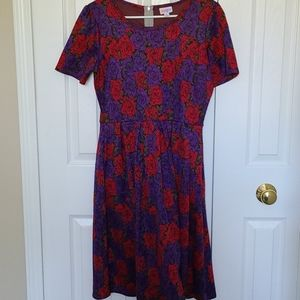 Red and Purple rose dress